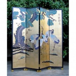 Chinese screen painted with...