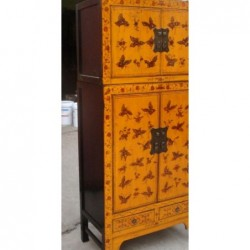 Yellow chinese cabinet with...