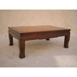 Chinese coffee table with marquetry tray 95cm