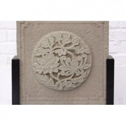 Chinese carved stone bas relief