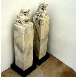 Stèles chinoises en pierre...
