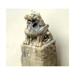 Carved stone chinese pillar with dragon (sold by unit)