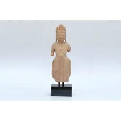 Natural stone standing buddha