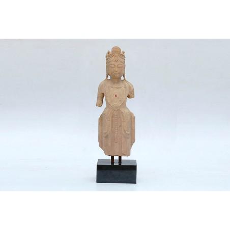 Guan -Yin debout en pierre naturelle