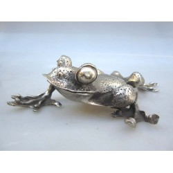 China. Frog in silvered bronze