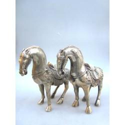 Chevaux chinois. Bronze...