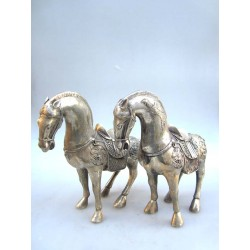 China. Horses in silvered...