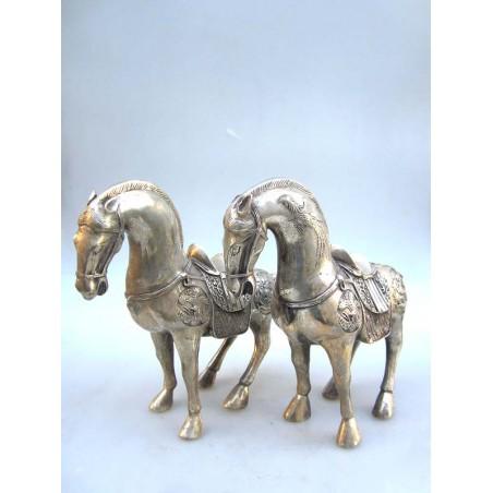 Chinesische Pferde. Silberne Bronze (Preis pro Stück)