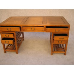 Chinese desk in elm wood...