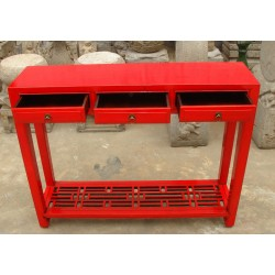 Chinese console in red lacquer 102cm