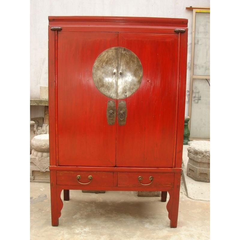 Chinesisch rot lackiert Hochzeitsschrank