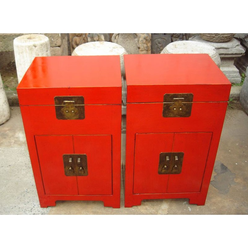 Meuble Chinois Bar Rouge 42cm China Collection