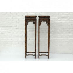 Walnut chinese high stand  34 cm