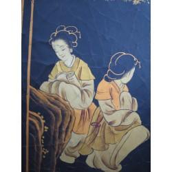 chinesischer Wandshirm mit Kran