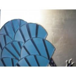 Chinesischer Wandshirm mit Kran Dekor bemalt