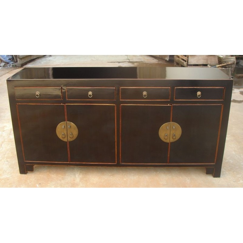 Buffet chinois laqué noir 170 cm | China Collection