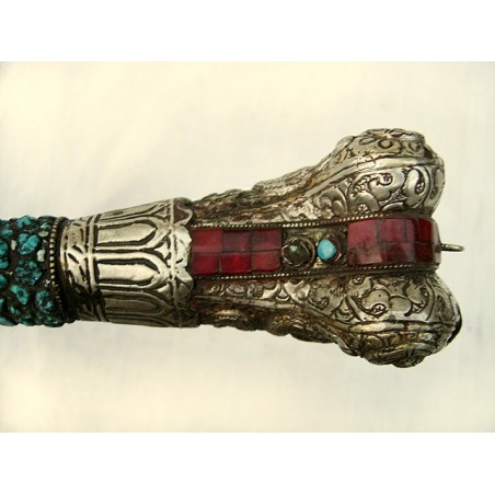 Tibetan kangling inlaid with genuine turquoises