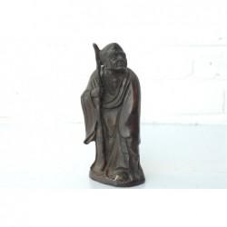 Bronze. Mönch mit Stock