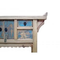 Bleach wooden console 90 cm