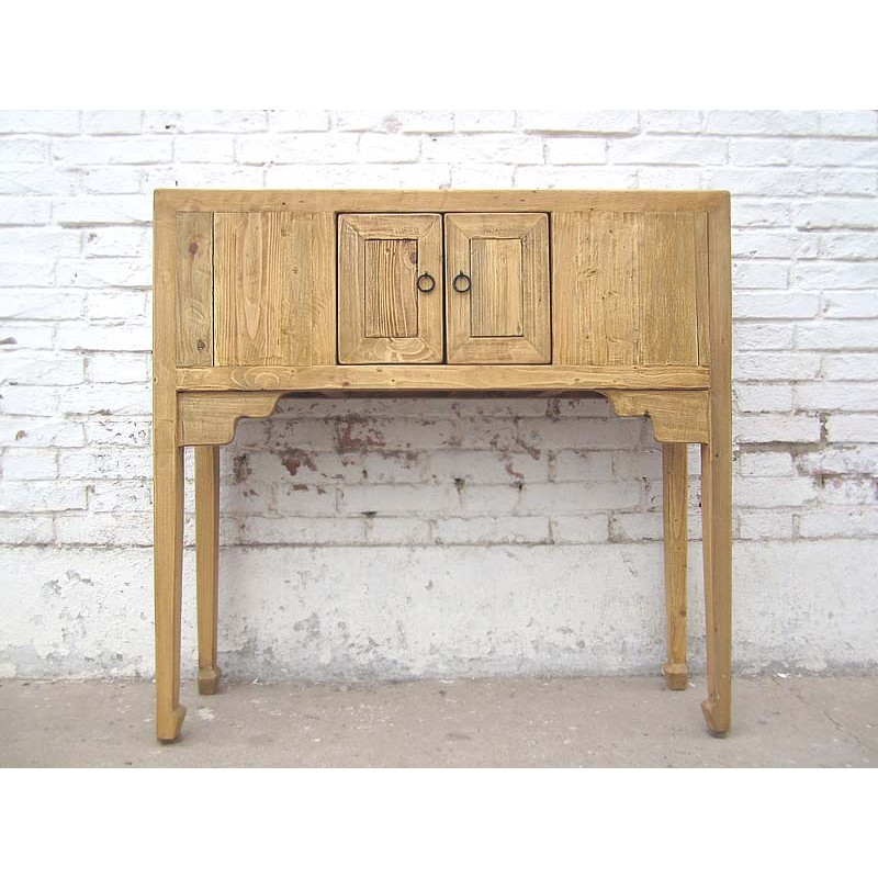 Bleached Wood Chinese Console Table 90 Cm