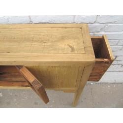 Console chinoise en bois blanchi 90 cm