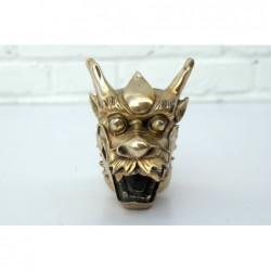 Chinese Dragon head. Gilded bronze