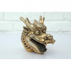 Chinese Dragon head. Gilded...