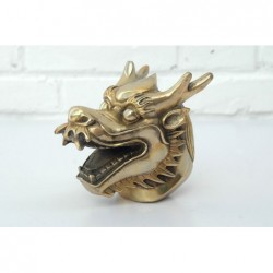 Chinese Dragon head. Gilded bronze