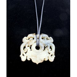 Natural stone pendant with...