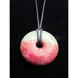 "Pendentif ""donut"" en pierre naturelle"