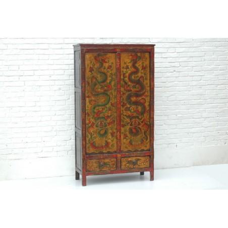 Tibetan cabinet in pine wood 92cm