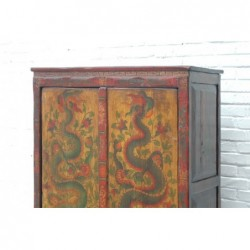 Armoire tibétaine avec dragons 92 cm