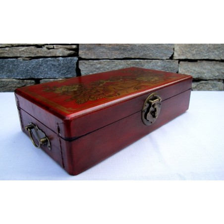 Vintage leather jewelry box