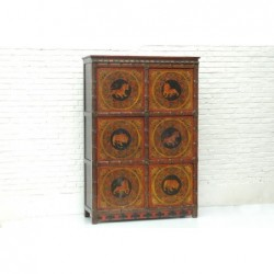 Tibetan cabinet with tigers 128cm