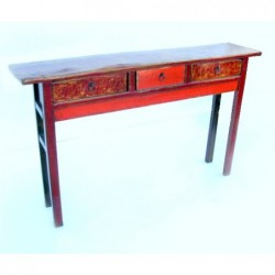 Mongolian console painted...