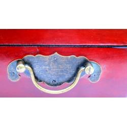 Chinesische Leder Schmuckschatulle