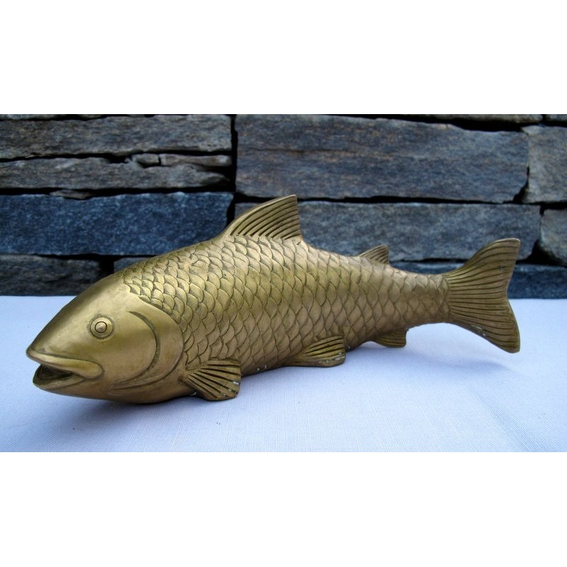 China. Fish in gilded bronze