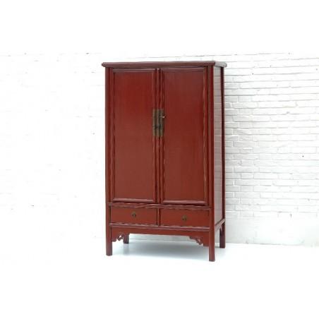 Arrmoire à linge rouge. Style Ming 104cm