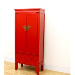 Armoire chinoise rouge...