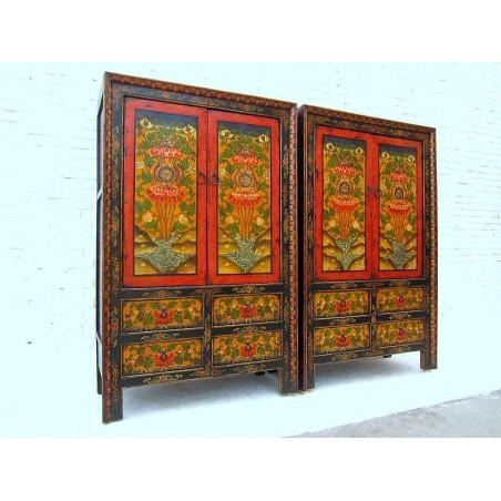 Armoires à linge tibétaines 117cm