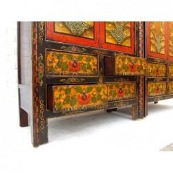 Paire d'armoires tibétaines anciennes 117 cm (vendues à l'unité)