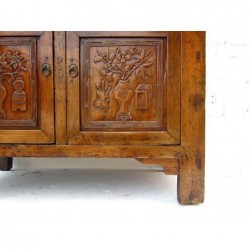 Buffet chinois ancien sculpté 96 cm