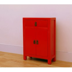 Chinese-red small cabinet...