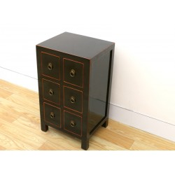 Chinese black side-cabinet...