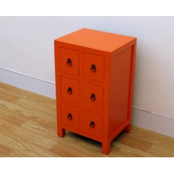 Meuble chinois orange 43 cm