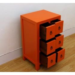 Chinese orange side-cabinet 43 cm