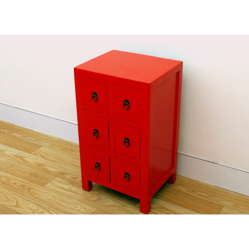 Chinese-red small cabinet 43 cm