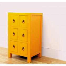 Meuble chinois jaune 43 cm
