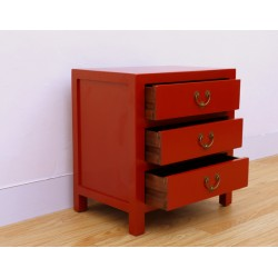 Antique-red chinese chest