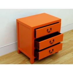 Chinese orange side-cabinet...